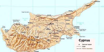 kart over kypros Kypros kart   Kart Kypros (Sør Europa   Europa) kart over kypros